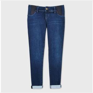 Maternity Side Panel Brushed Back Skinny Jeans
